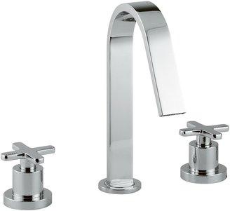 Abode Serenitie Three Piece Deck Mounted Basin Filler Bathroom Tap