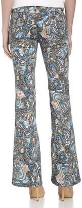 Rebecca Minkoff Skinny Bootcut Paisley Jeans, Multicolor
