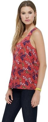 Juicy Couture Silk Floral Print Top