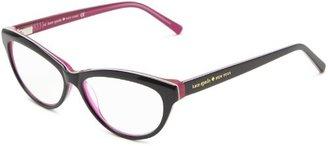 Kate Spade Abena Abena Cat Eye Reading Glasses,Black/Pink 1.0,52 mm
