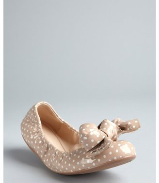 Prada Sport powder patent leather polka dot bow detail ballet flats