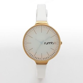 RumbaTime orchard gold tone white silicone watch - 12412 - women