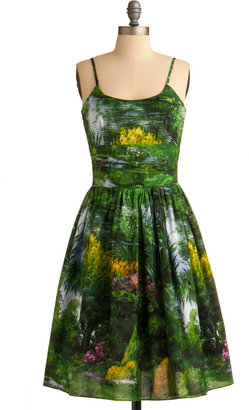 Graceful Greenery Dress in Nature