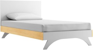 Dutailier Melon Twin Bed-White w/Natural Trim