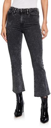 Frame Le Cropped Mini Boot-Cut Acid Wash Jeans