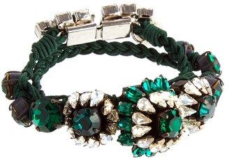Shourouk Baraka Rococo Emerald Rainbow Bracelet - Multi