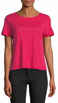 Eileen Fisher Striped Linen Crop Top