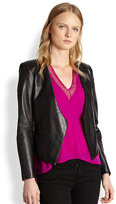 Mason by Michelle Mason Asymmetric Leather Blazer