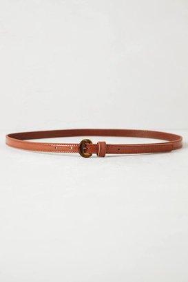 Anthropologie Patent Skinny Belt