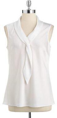 Tahari ARTHUR S. LEVINE Sleeveless Necktie Shell