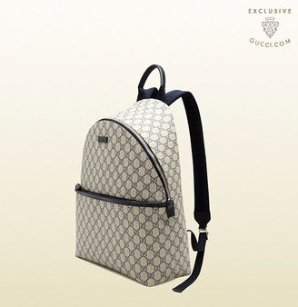 Gucci online exclusive GG supreme canvas zip backpack
