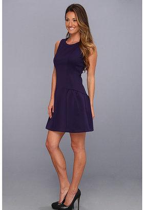 Jessica Simpson Sleeveless Dropped Flounce Skirt Dress w/ Style Lines JS3A5455