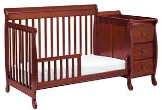 DaVinci Kalani Crib and Changer in Cherry Including Toddler Rail
