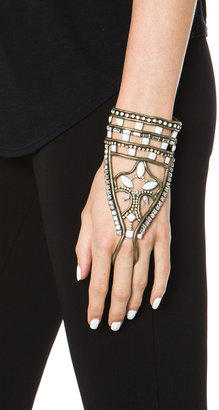 Lionette by Noa Sade Andaman Plated Brass Hand Bracelet in White
