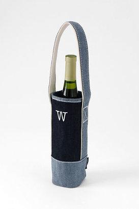 Lands' End Denim Single Wine Tote
