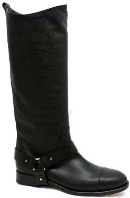 "Chloé CH21380"" Black Leather Tall Boot"