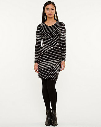 Le Château Stripe Jersey Knit Fitted Tunic