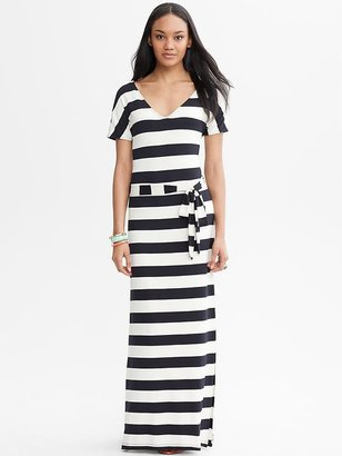 Banana Republic Striped Tie-Front Patio Dress