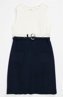 Milly Minis 'Cece Combo' Sleeveless Dress (Little Girls & Big Girls)