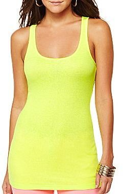 JCPenney a.n.a® Neon Racerback Tank