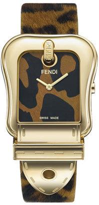 Fendi 'B. Fendi' Large Animal Print Watch