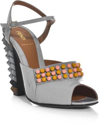 Fendi Polyfonia studded sandals
