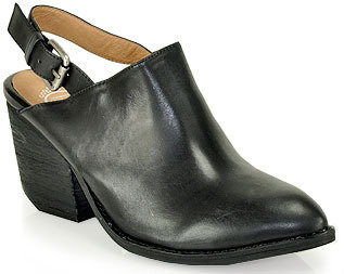 Jeffrey Campbell Fort Collins - Mid-Heel Mule in Black