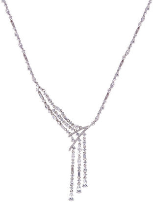 Nadri Crystal Asymmetrical Fringe Necklace