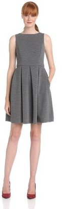 Isaac Mizrahi Women's Sleeveless Ponte Fit-and-Flare Dress