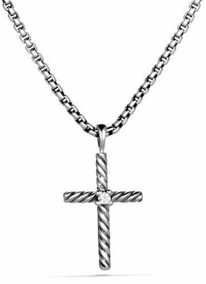David Yurman Cable Classics Cross with Diamond on Chain