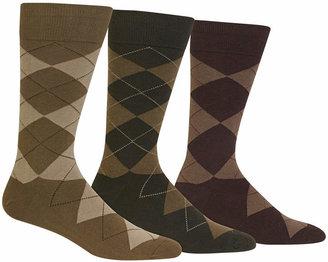 Polo Ralph Lauren Men Socks, Extended Size Argyle Dress Men Socks 3-Pack