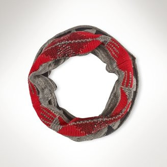 Ralph Lauren Blue Label Patterned Infinity Scarf