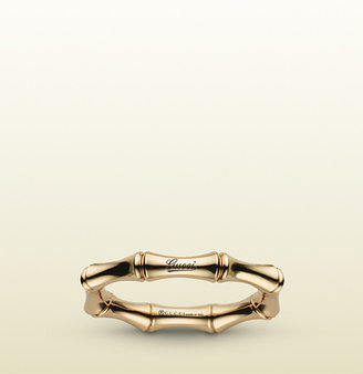 Gucci Bamboo Spring Ring In Yellow Gold