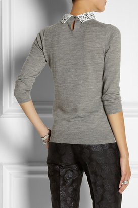 J.Crew Embellished merino wool sweater