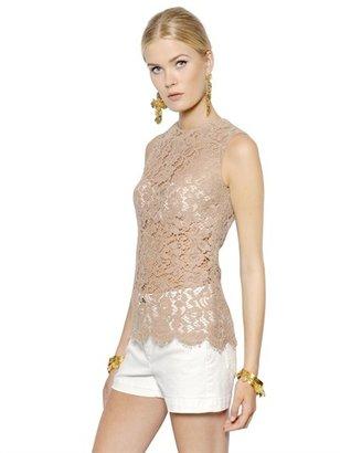 Dolce & Gabbana Cordonetto Cotton Lace Top