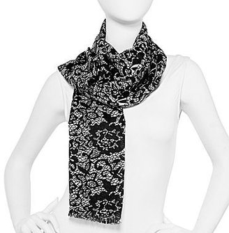 JCPenney Lace-Print Scarf