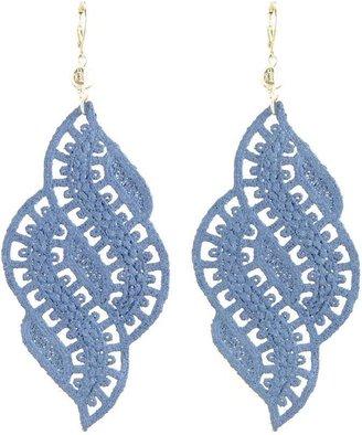 Tita' Bijoux Foglia denim color lace earrings