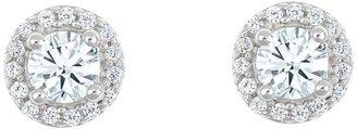 Affinity Diamond Jewelry Affinity 1/2 cttw Diamond Stud Earrings, 14K White Gold