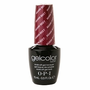 OPI Gelcolor Collection Soak-Off Nail Lacquer, Miami Beet