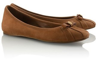 Tory Burch Suede Ally Bow Ballet Flats