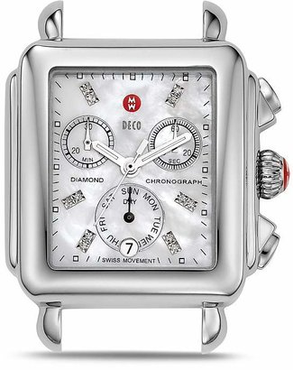 MICHELE Deco Day Diamond Watch Head, 33 x 46mm $795 thestylecure.com