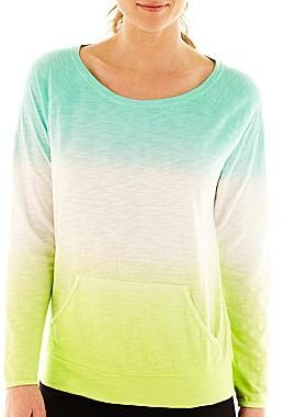 JCPenney XersionTM Dip-Dyed Long-Sleeve Pullover
