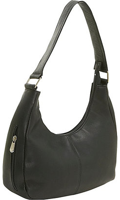 Le Donne Leather Single Handle Side Zip Hobo