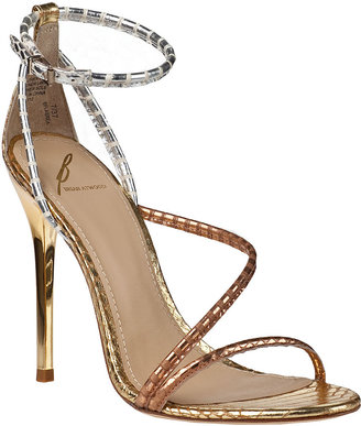 Brian Atwood Labrea Evening Sandal Gold Multi Snake