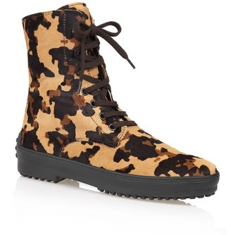 Tod's Limited Edition Camouflage Lace-up Boots