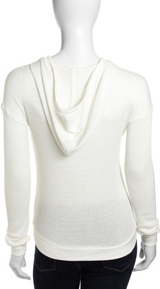 Velvet by Graham & Spencer Waffle Knit Hoodie, White