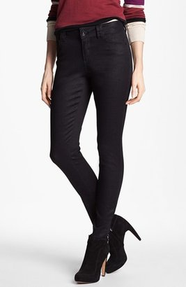 Nordstrom Wit & Wisdom Graphic Coated Skinny Jeans (Black Exclusive)