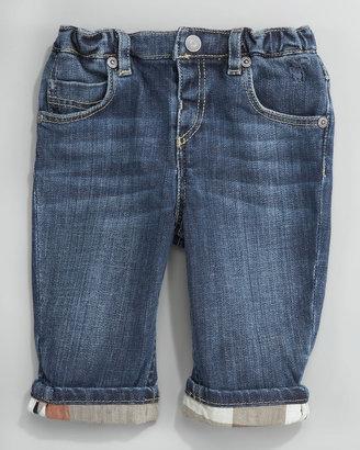 Burberry Pierre Medium-Wash Denim Trousers