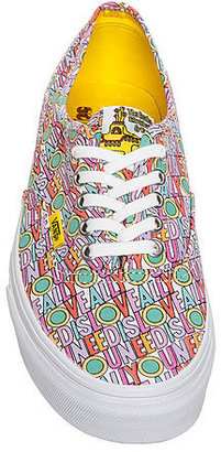 Vans The x The Beatles All You Need is Love Authentics in Pink and White