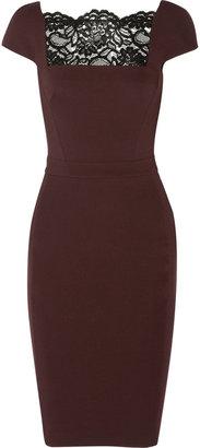 Just Cavalli Lace-paneled jersey dress
